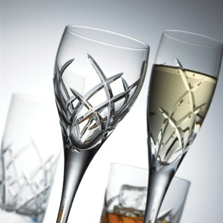 Flame Glasses with champagne