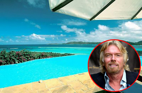 Sir Richard Branson Island