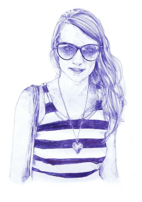 Ballpoint Babe Illustrations