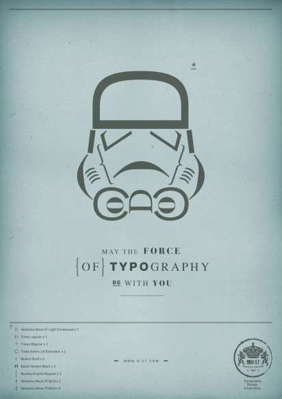 Intergalactic Typography Ads