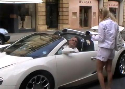 A Blonde, an Old Man and a Bugatti