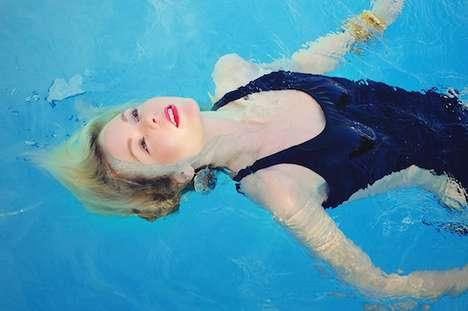 Bathing Blonde Photography