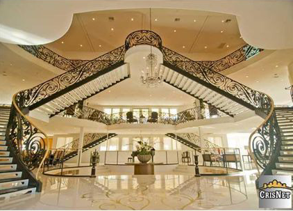 House of the Day Three Story Foyer Mansion 1