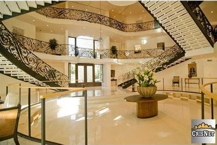 House of the Day Three Story Foyer Mansion 5