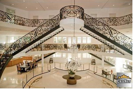 House of the Day Three Story Foyer Mansion 8