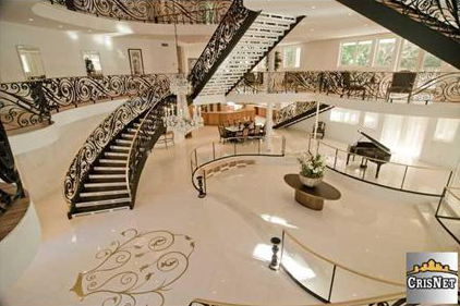 House of the Day Three Story Foyer Mansion 9