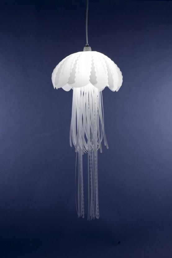 Lovely Jellyfish-Like Pendant Lamps 2