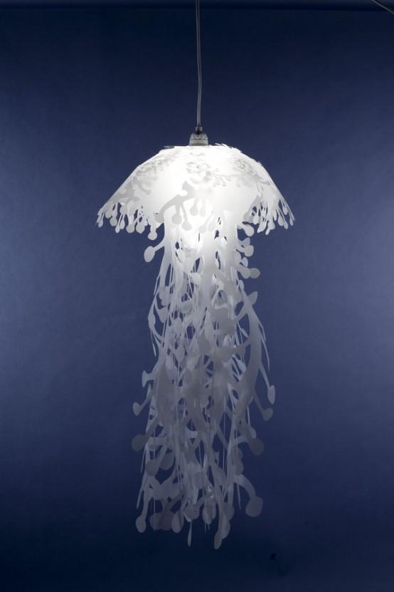 Lovely Jellyfish-Like Pendant Lamps 4