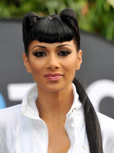 Nicole Scherziner Pinup Hairstyle with Bangs