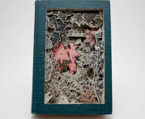 Science-Inspired Book Carvings