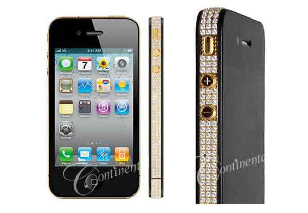 Continental Mobiles iPhone 4 24k Classic Gold and Diamonds