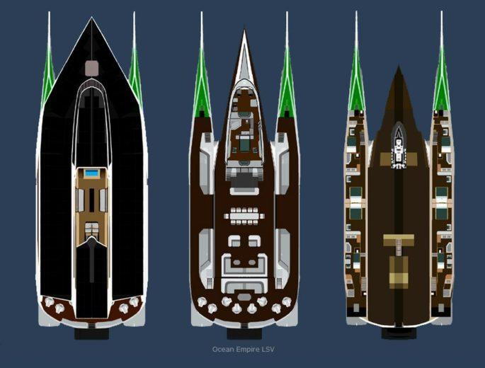 Green Superyacht from Sauter Zero Carbon Design 1