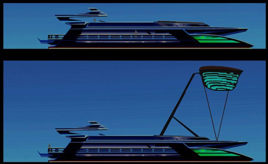 Green Superyacht from Sauter Zero Carbon Design 3