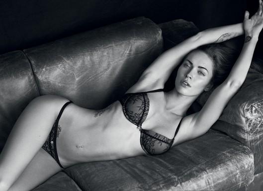 Megan Fox Posing For Armani