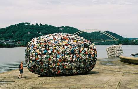 Recycled Trash Sculptures 1