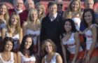 Warren Buffett and Bill Gates With Hooter Girls