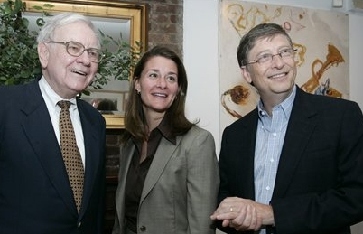Warren Buffett and Bill Gates family