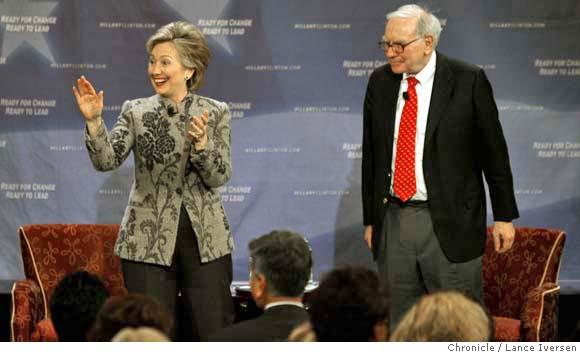 Warren Buffett and hillary Clinton