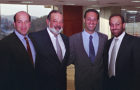 Carlos Slim and his three sons, (L to R), Patrick, Carlos and Marco Antonio Slim Domit.
