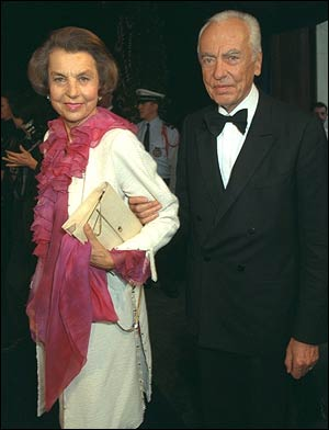 André Bettencourt with his wife Liliane