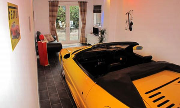 Ferrari Diehard Fan Keeps His Car in His Living Room (1)