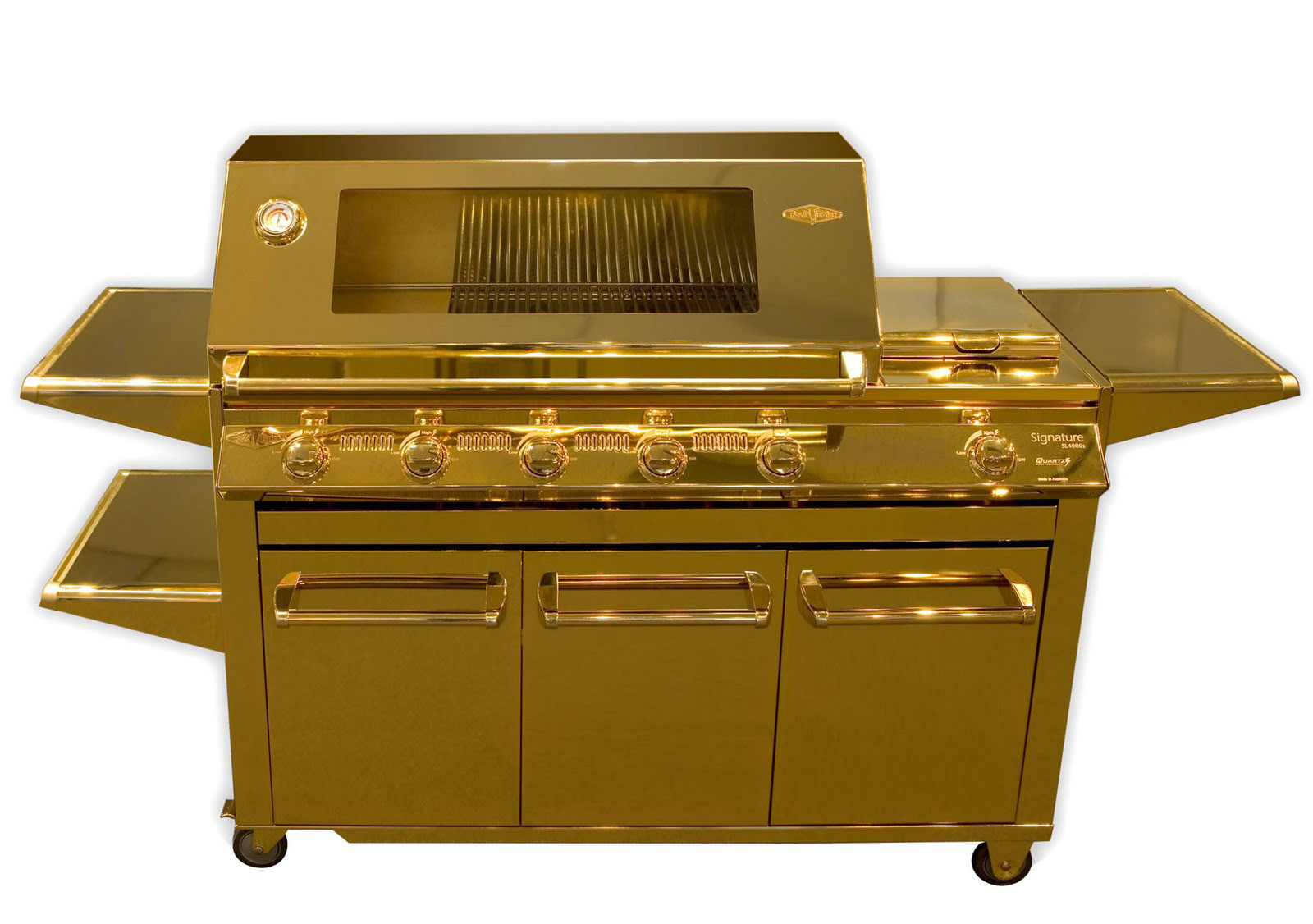 24-Carat Gold Barbecue Cooking in Luxury (2)