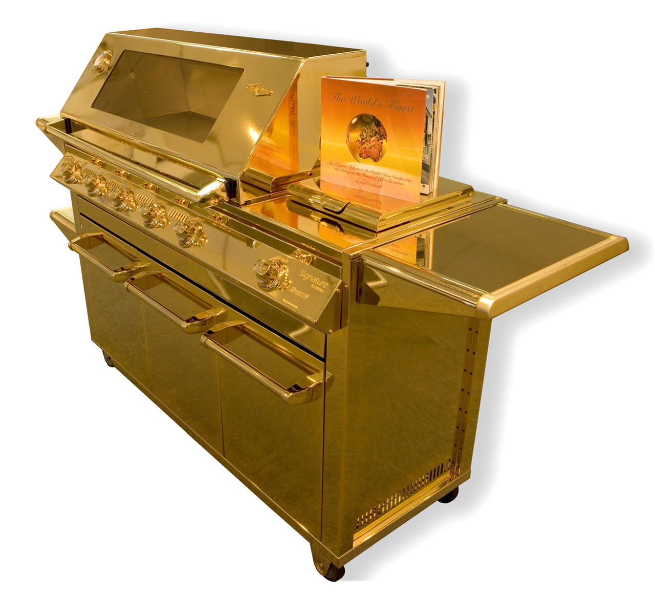 24-Carat Gold Barbecue Cooking in Luxury (1)