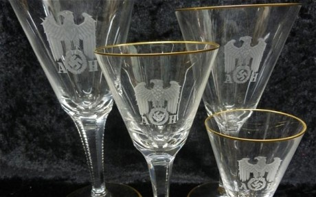 Hitler's set of wine glasses