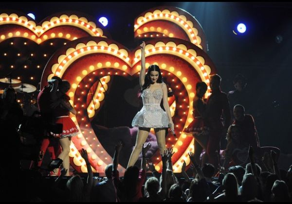 Singer Katy Perry performs onstage durin