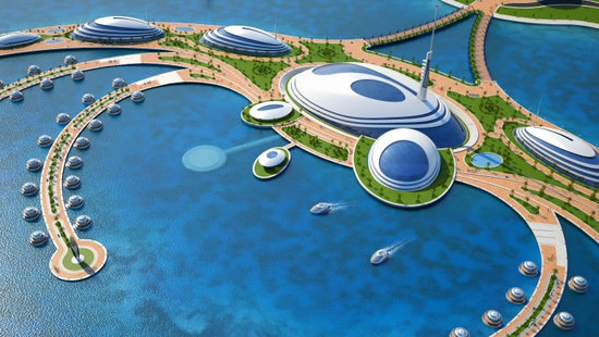 Amphibious 1000 Luxury Resort Project for Qatar (3)