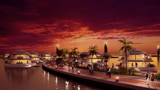 Amphibious 1000 Luxury Resort Project for Qatar (1)