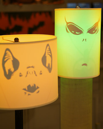 Ghoulish Lampshades