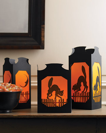 Vellum Halloween Table Lanterns