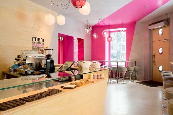 Café FOAM in Stockholm Striking Interior, Unique Ambiance