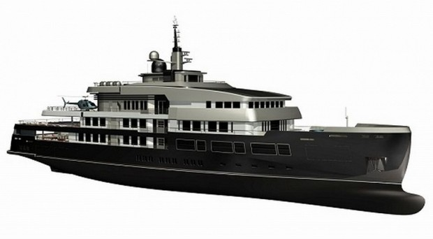 NPe75 Superyacht by Gian Paolo Nari for Heli-Yacht