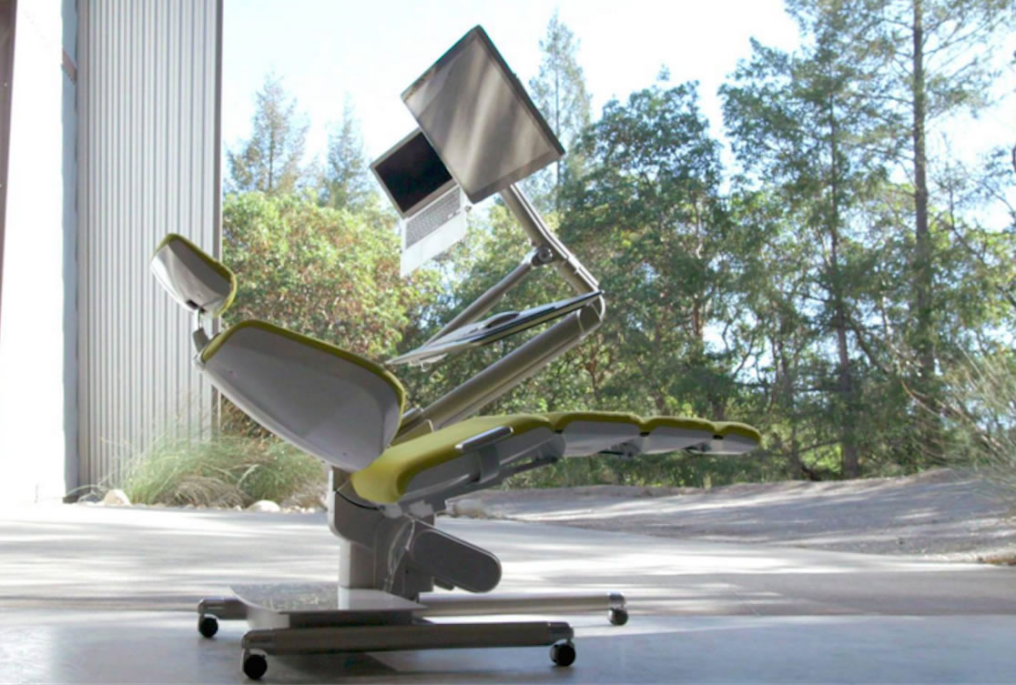 Altwork Station Allows You To Work While Lying Down