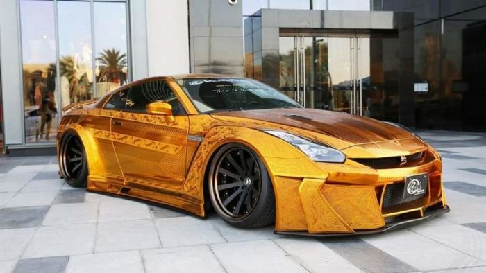 Gold-Plated Nissan R35 GT-R Is Worth $1 Million 1