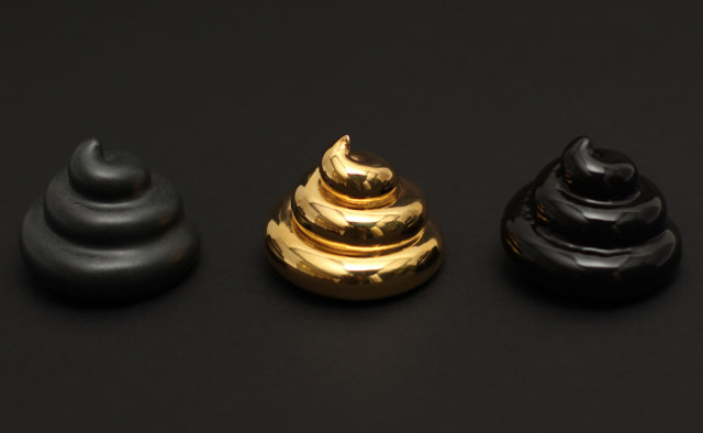 Gold-Plated Turd Sculpture Respects Geometric Principles 2